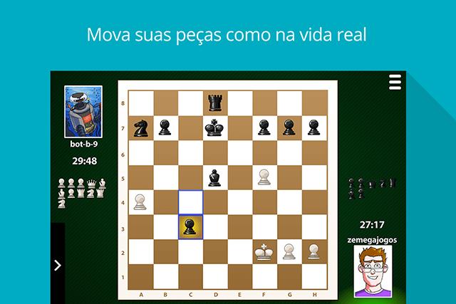 Xadrez MegaJogos: tela do jogo