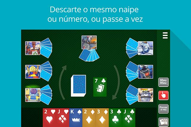 Mau Mau MegaJogos: tela do jogo