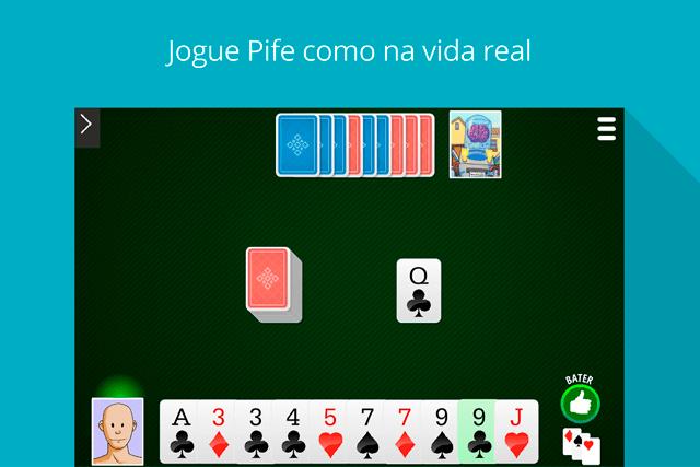 Pife - Pif Paf MegaJogos: tela do jogo