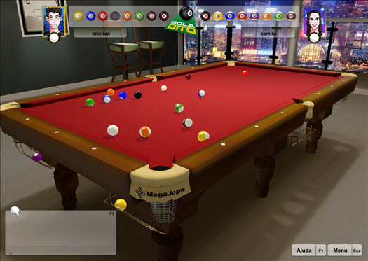 3D 8 Ball Billiards Online MegaJogos